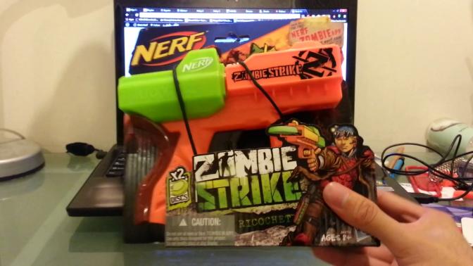 Nerf Zombie Strike Ricochet Unboxing & Range Test Videos