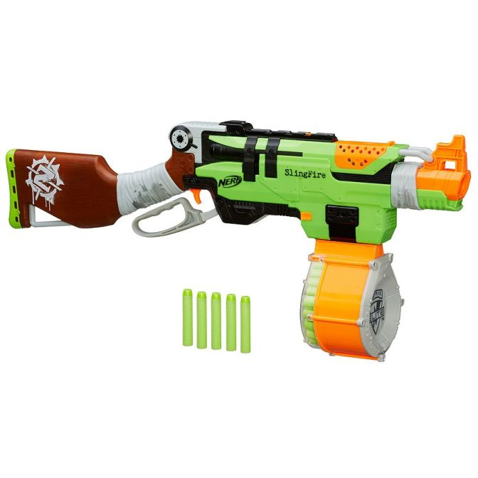 Nerf Zombie Strike Slingfire & 25 Dart Drum Package Deal From Kohls